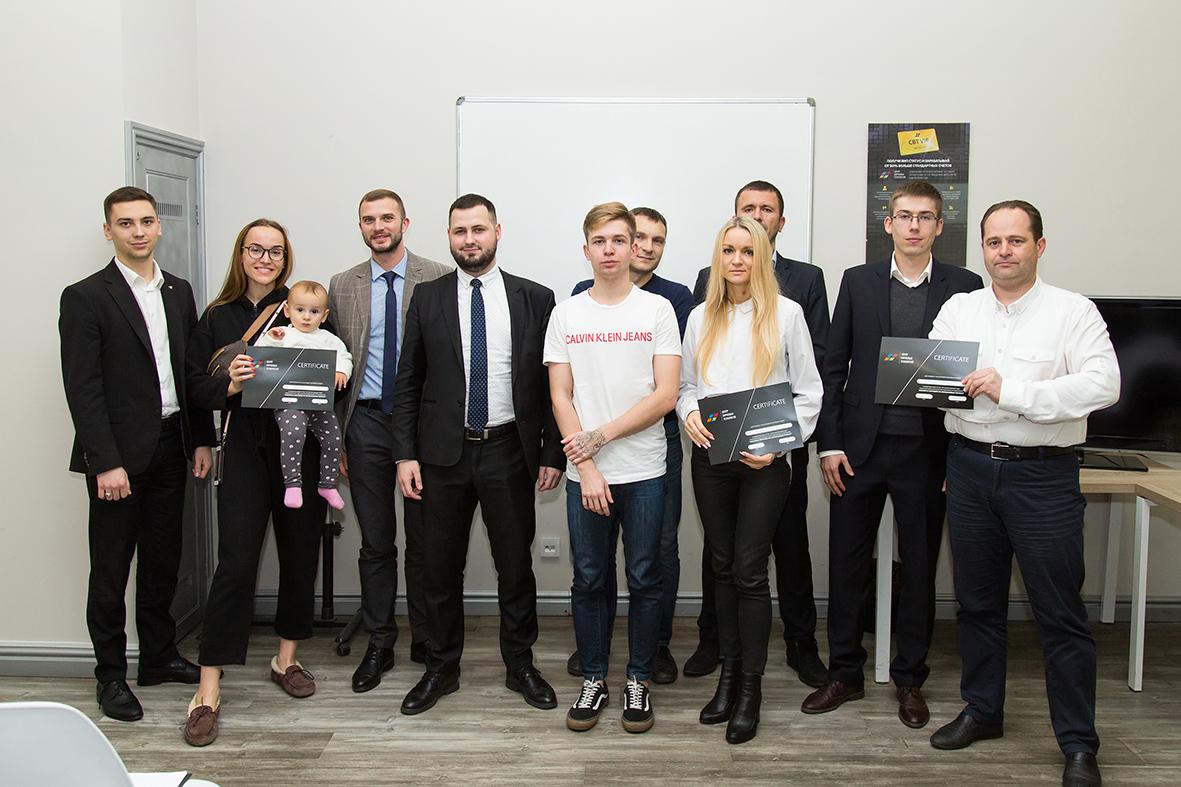Вручення сертифікатів про проходження курсу CBT-Belastium в Києві
